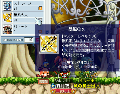 暴風の矢スキル20