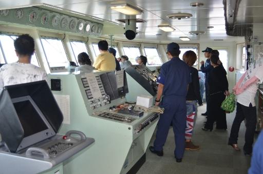 練習船こじま-操舵室