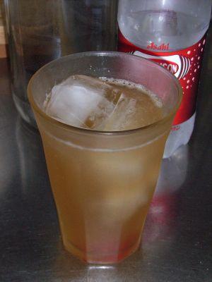 2011年9月4日ジンジャエールの原液~炭酸水入り_400