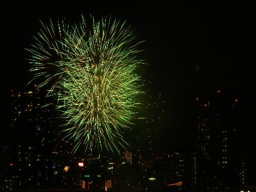 100725 緑の花火