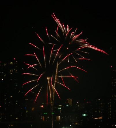 100725赤い花火