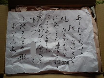 100731桃の手紙