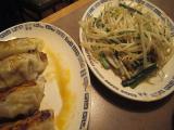 野菜炒め&餃子