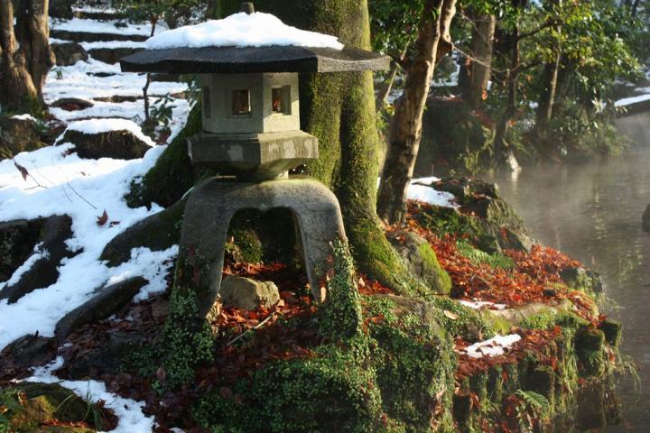 雪の岐阜公園1