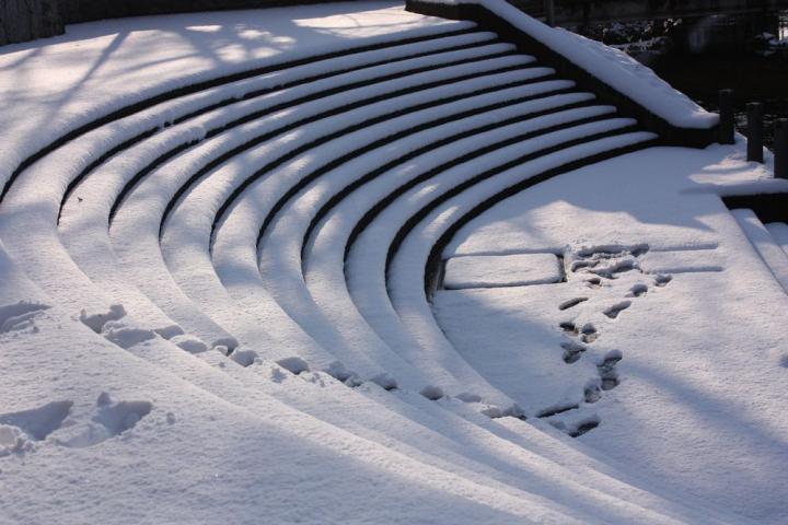 雪の曲線1