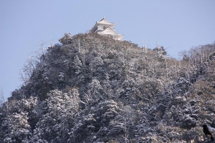 岐阜公園 雪1