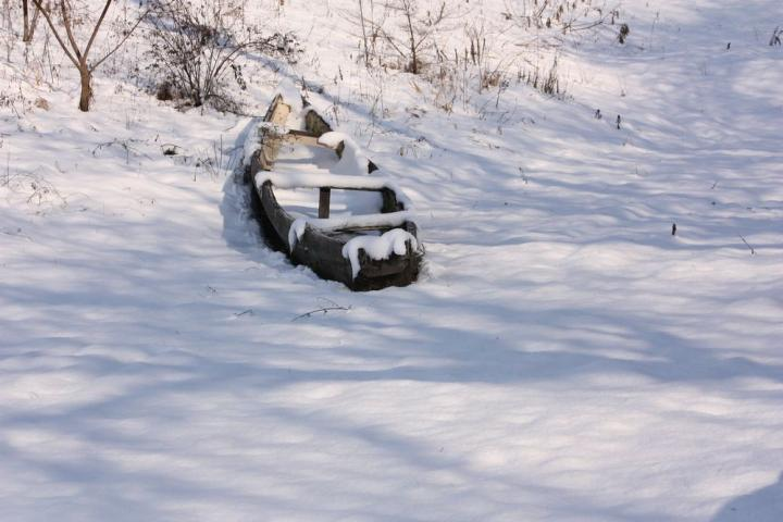 雪の鵜飼乗船場7