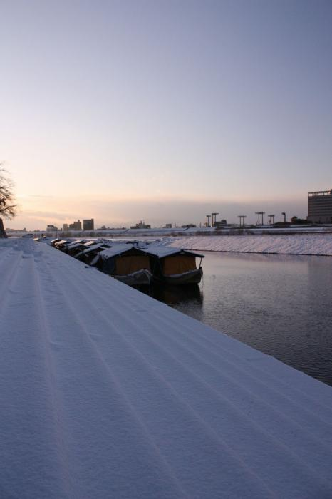 雪の鵜飼乗船場8