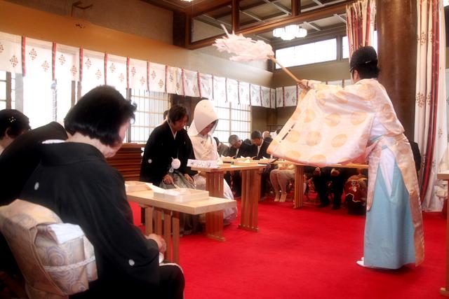 廣田神社 結婚式 青森市 神前結婚式 スナップ 写真 撮影