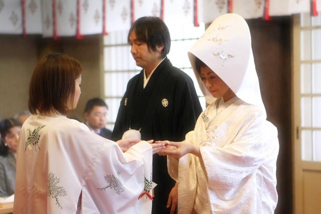 廣田神社 青森市 神前結婚式 挙式 スナップ 写真 撮影