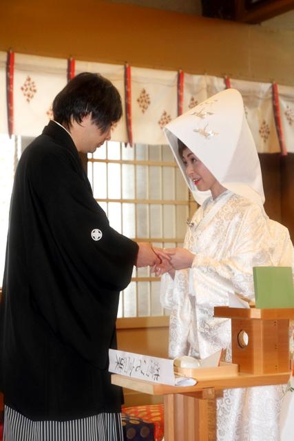 廣田神社 青森市 結婚式 神前 挙式 スナップ 写真 撮影