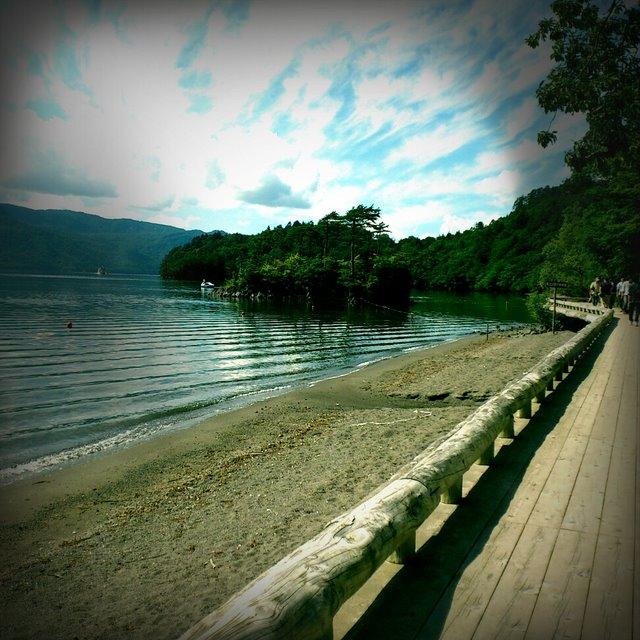 十和田湖 レトロカメラ
