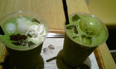 nana's green tea(なんばパークス)_抹茶白玉あずき&抹茶フロート