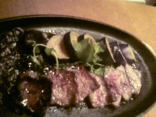 牛カルビのステーキ