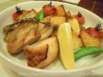 鶏肉と野菜のグリル焼