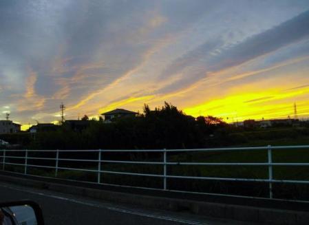 刈谷の夕焼け