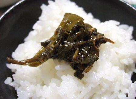 葉唐辛子の佃煮