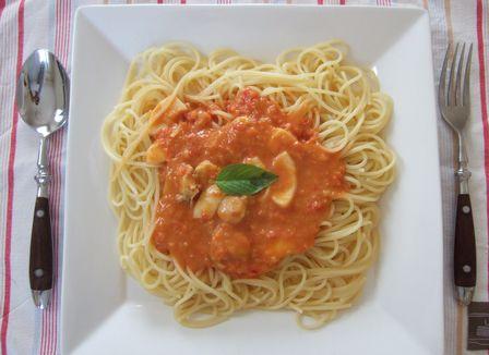 トマトクリームスパ