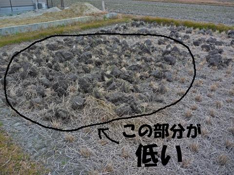 低い部分に土を移動