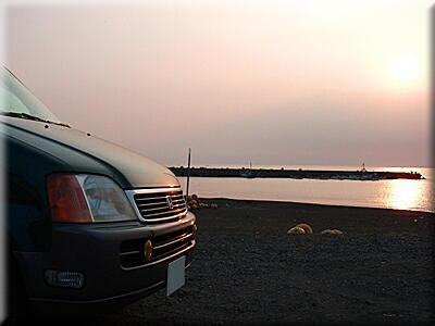 P610.9夕日とRF2