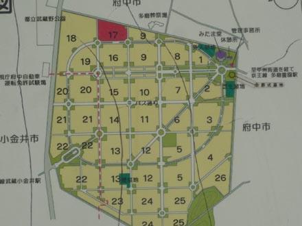 多磨霊園全体地図