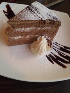 ショコラオレのケーキ