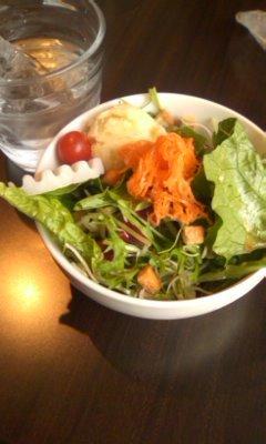ランチのサラダ@Tsubaki CAFE