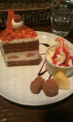 ナポレオンショコラのティータイムセット@CHOCOLATE CAFE CVORE