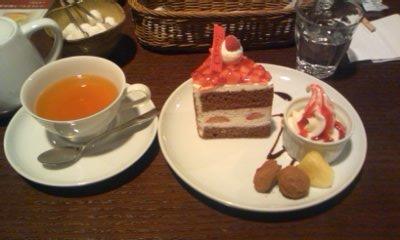 シトロン紅茶とナポレオンショコラ@CHOCOLATE CAFE CVORE