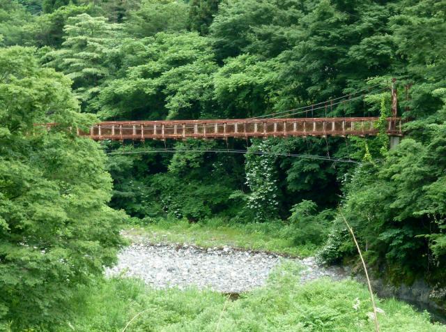 坂内広瀬の吊橋1