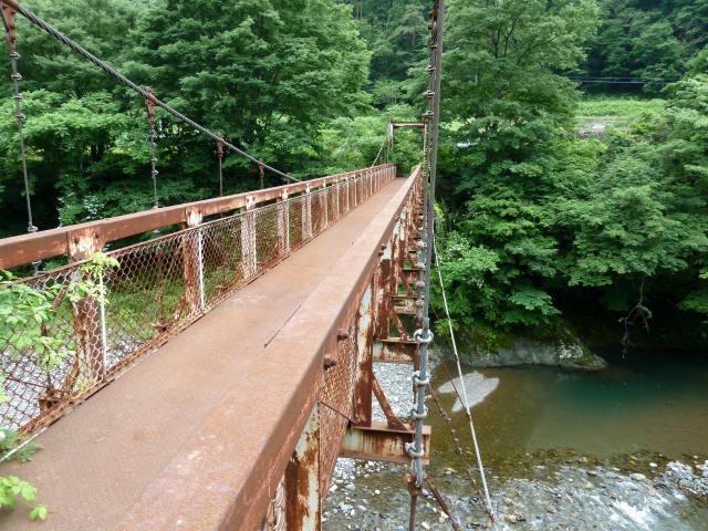 坂内広瀬の吊橋10