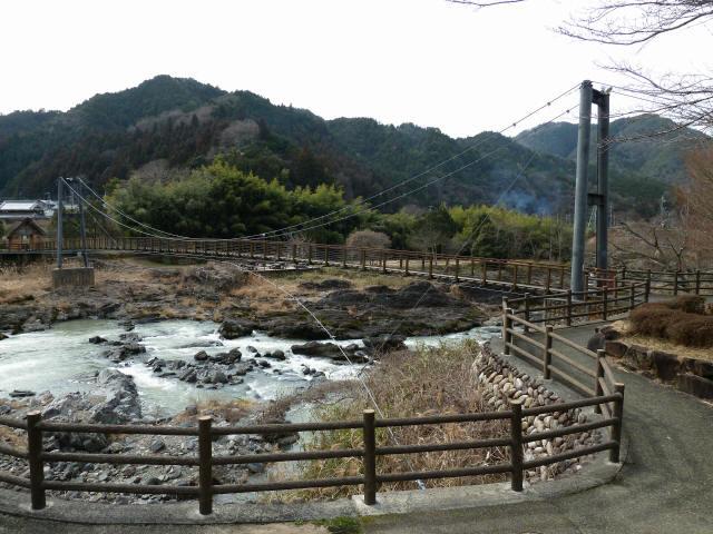 川代公園の吊橋1