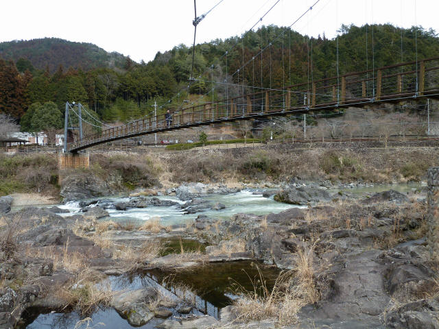 川代公園の吊橋9