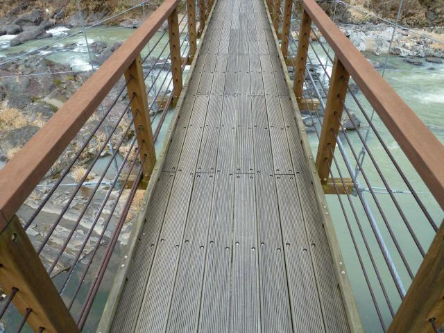 川代公園の吊橋10