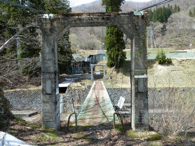 切明発電所の吊橋2