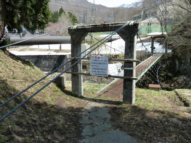 切明発電所の吊橋5