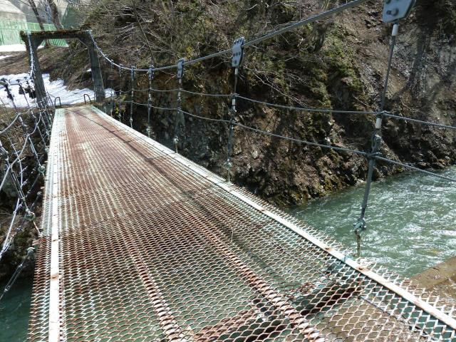 切明発電所の吊橋8