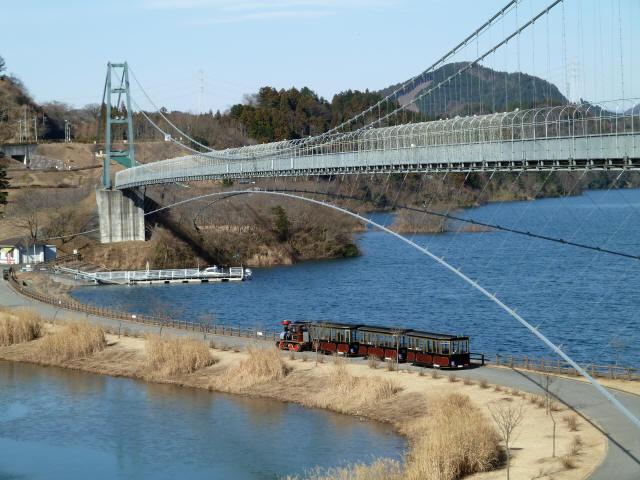 水の郷大つり橋7