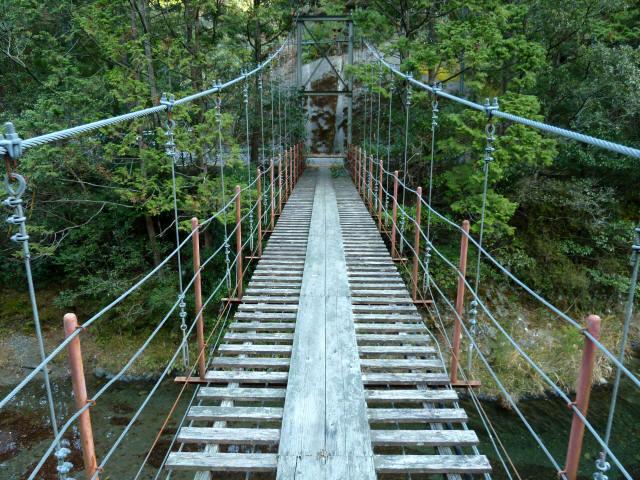 大藪谷の吊橋9