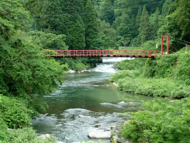 坂内坂本の吊橋10