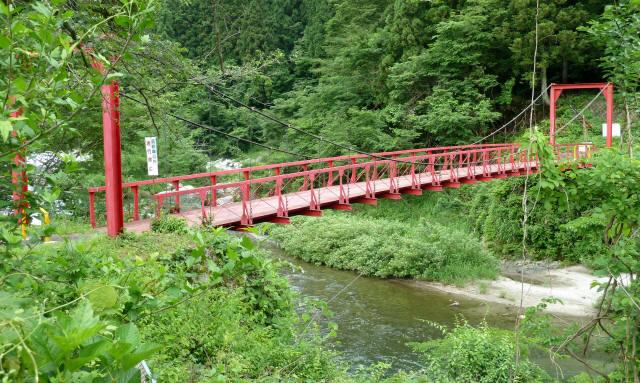 坂内坂本の吊橋9