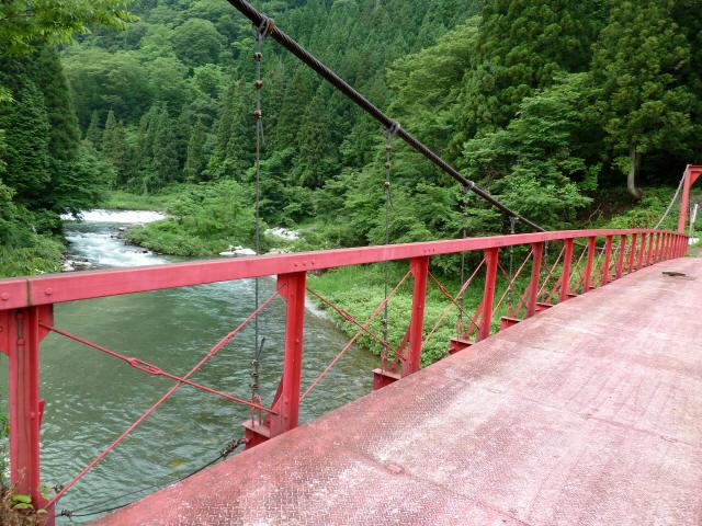坂内坂本の吊橋6