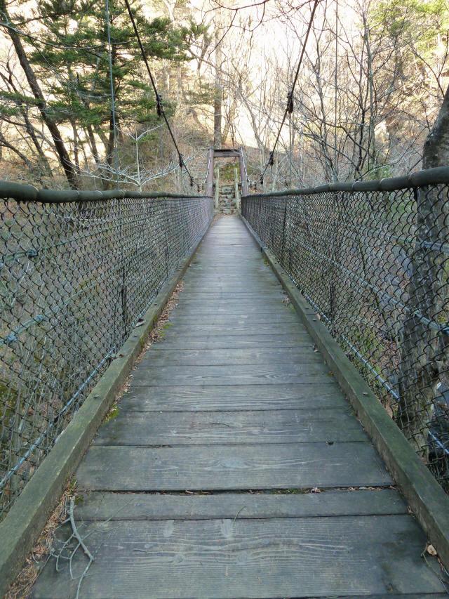 留春の滝吊橋3