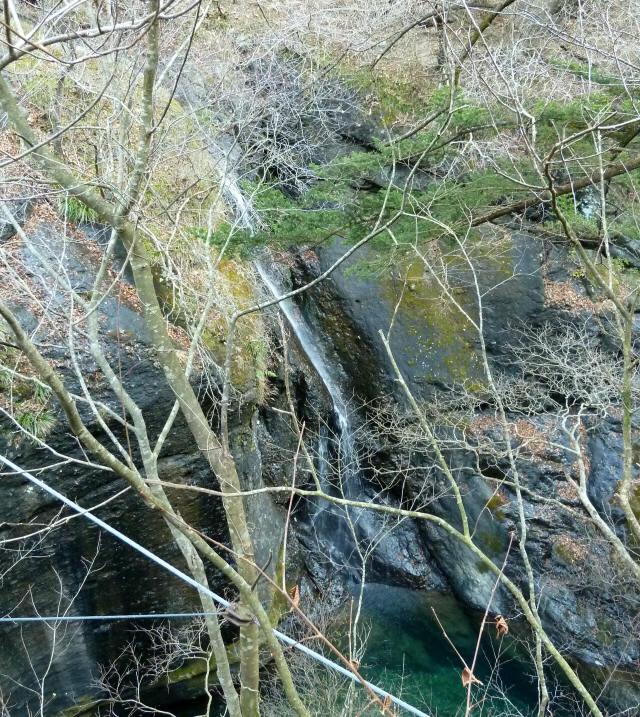 留春の滝吊橋1