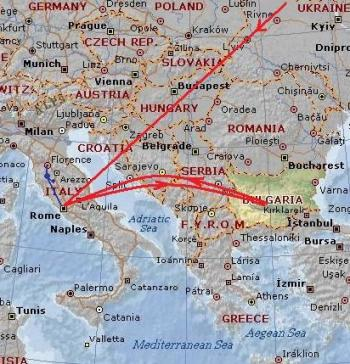 Map_Italy and Bulgaria