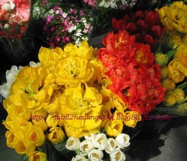 マーケットのお花