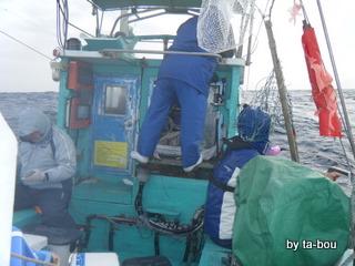 20100314清勝丸船長の操舵