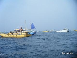 201005050久里浜沖鯛船団