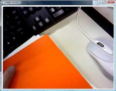 USBカメラが写した画像です。