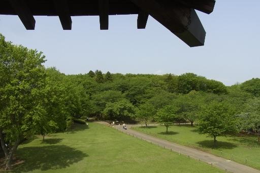 二層櫓展望台からの園内